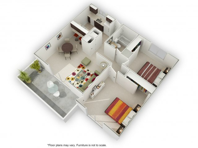 2 Bedrooms 1 Bathroom Apartment for rent at Sierrabrook in San Jose, CA