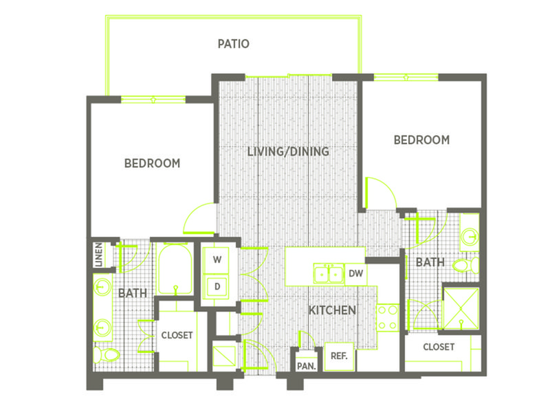 2 Bedrooms 2 Bathrooms Apartment for rent at Hawthorne House in San Antonio, TX