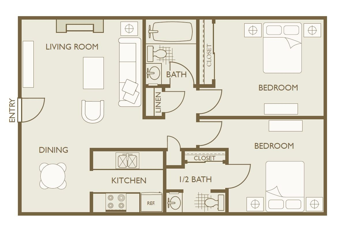 2 Bedrooms 1 Bathroom Apartment for rent at Skyline View in Aurora, CO