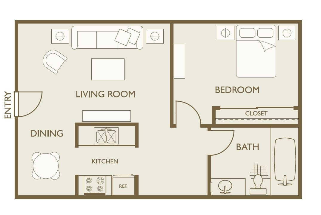 1 Bedroom 1 Bathroom Apartment for rent at Skyline View in Aurora, CO