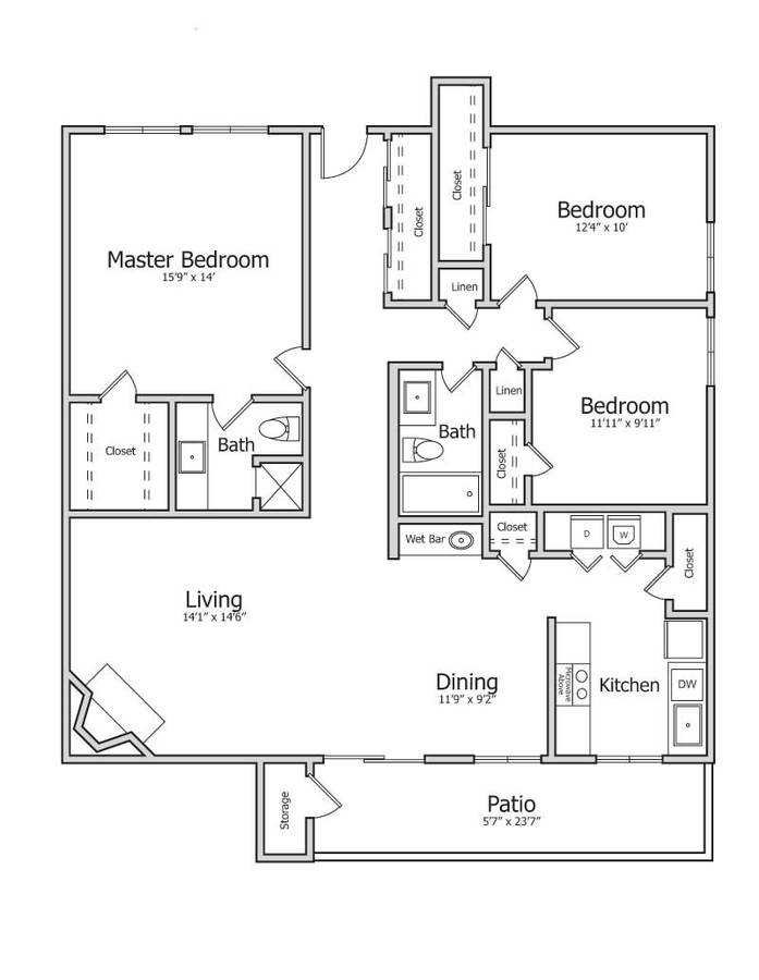 3 Bedrooms 2 Bathrooms Apartment for rent at Park View in Tempe, AZ