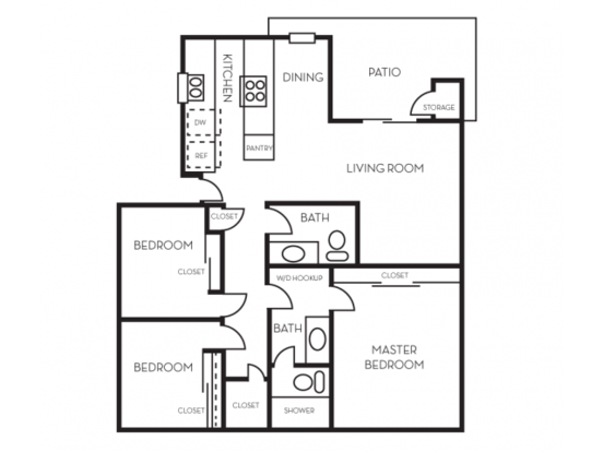 3 Bedrooms 1 Bathroom Apartment for rent at The Crossing At Arroyo Trail in Livermore, CA
