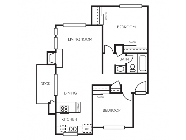 2 Bedrooms 1 Bathroom Apartment for rent at The Crossing At Arroyo Trail in Livermore, CA