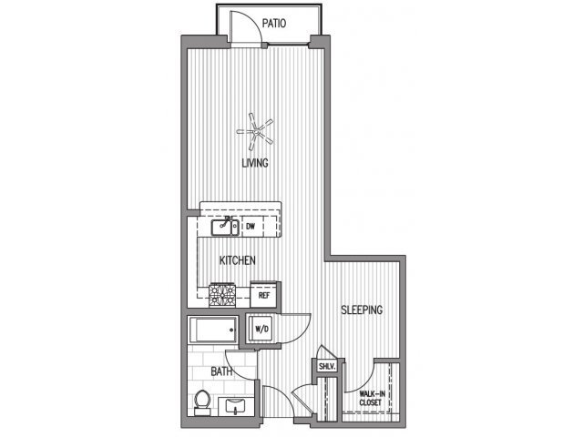 Studio 1 Bathroom Apartment for rent at Broadstone Little Italy in San Diego, CA