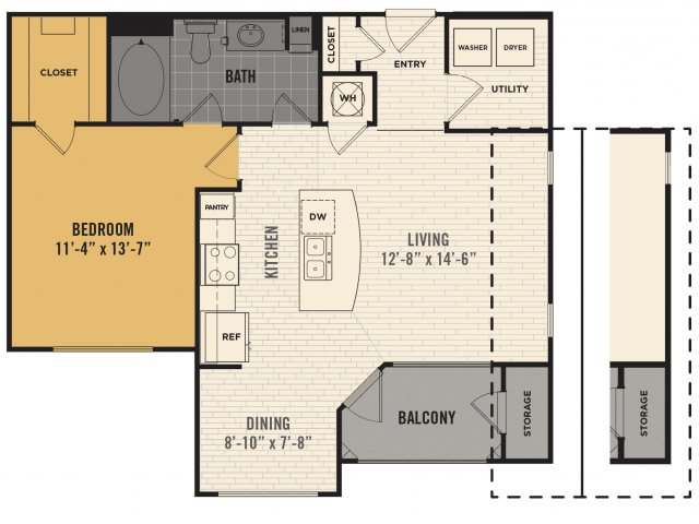 1 Bedroom 1 Bathroom Apartment for rent at Broadstone 8 One Hundred in Austin, TX