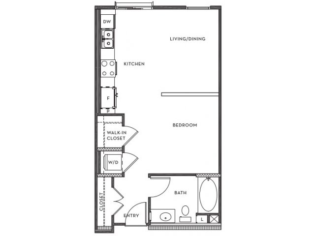 Studio 1 Bathroom Apartment for rent at 201 Marshall Apartments in Redwood City, CA