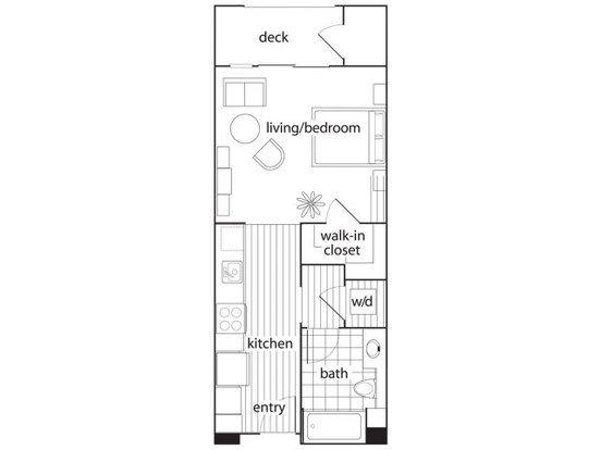Studio 1 Bathroom Apartment for rent at Domicilio in Santa Clara, CA