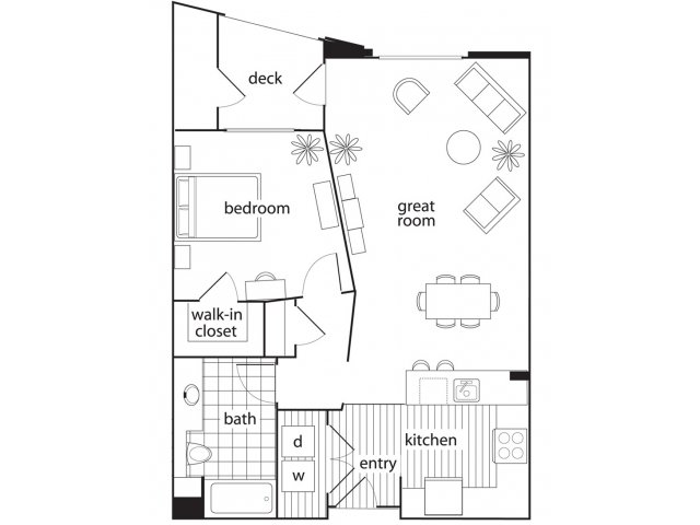 1 Bedroom 1 Bathroom Apartment for rent at Domicilio in Santa Clara, CA