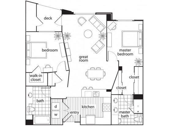 2 Bedrooms 2 Bathrooms Apartment for rent at Domicilio in Santa Clara, CA