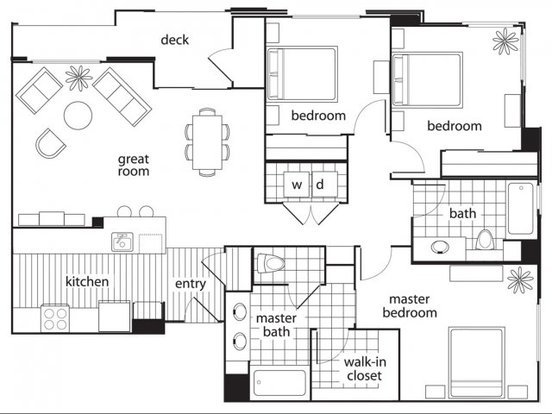 3 Bedrooms 2 Bathrooms Apartment for rent at Domicilio in Santa Clara, CA