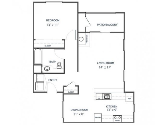 1 Bedroom 1 Bathroom Apartment for rent at Bridgepointe in San Mateo, CA