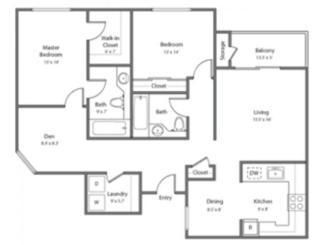 2 Bedrooms 2 Bathrooms Apartment for rent at Bridgepointe in San Mateo, CA
