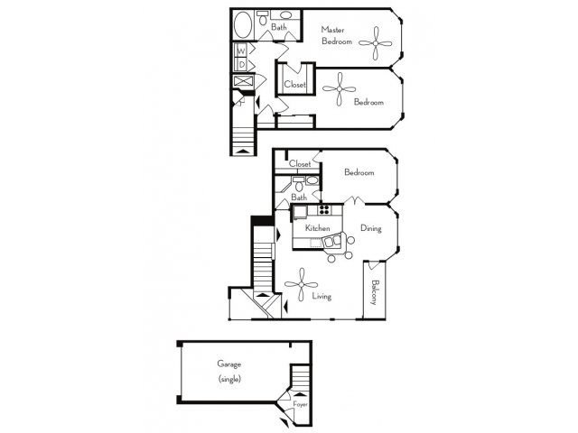 3 Bedrooms 2 Bathrooms Apartment for rent at Pavilions On Central in Phoenix, AZ