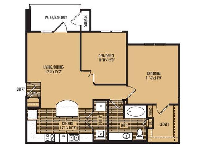 1 Bedroom 1 Bathroom Apartment for rent at Platinum Southside in Austin, TX