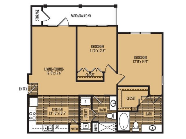 2 Bedrooms 2 Bathrooms Apartment for rent at Platinum Southside in Austin, TX