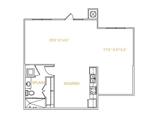 Studio 1 Bathroom Apartment for rent at Midtown Commons At Crestview Station in Austin, TX