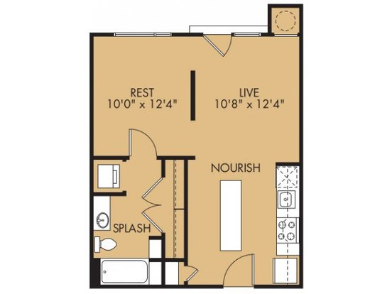 1 Bedroom 1 Bathroom Apartment for rent at Midtown Commons At Crestview Station in Austin, TX