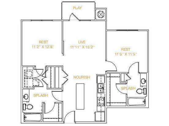 2 Bedrooms 2 Bathrooms Apartment for rent at Midtown Commons At Crestview Station in Austin, TX