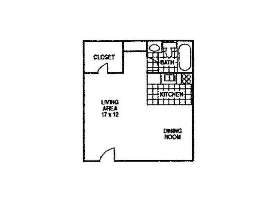 Studio 1 Bathroom Apartment for rent at Catalina Palms in Tucson, AZ