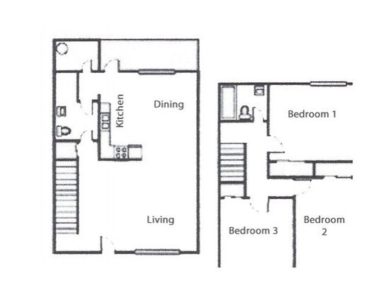 3 Bedrooms 1 Bathroom Apartment for rent at Craycroft Gardens in Tucson, AZ