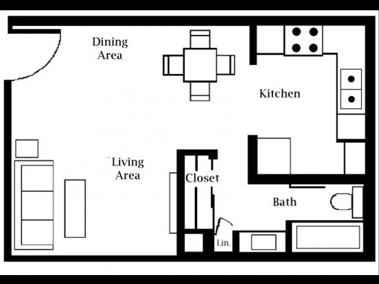 Studio 1 Bathroom Apartment for rent at Country Gardens in Tucson, AZ