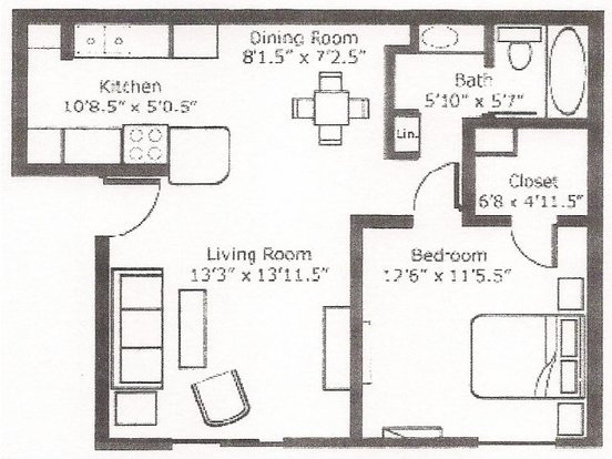 1 Bedroom 1 Bathroom Apartment for rent at Country Gardens in Tucson, AZ