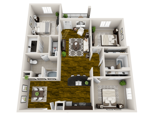 3 Bedrooms 2 Bathrooms Apartment for rent at Bacarra in Raleigh, NC