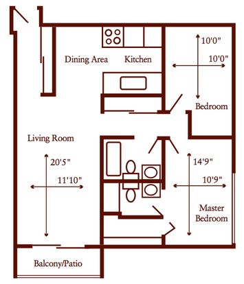 2 Bedrooms 2 Bathrooms Apartment for rent at Paragon Apartments in Bloomington, MN