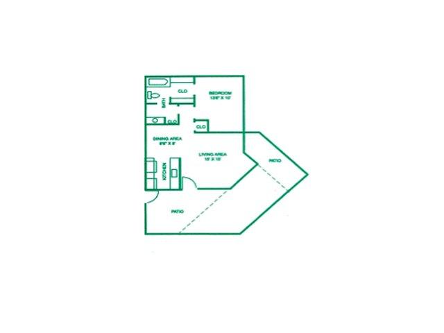 1 Bedroom 1 Bathroom Apartment for rent at Fiesta Park in Mesa, AZ