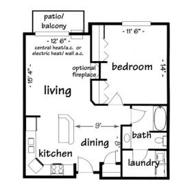 1 Bedroom 1 Bathroom Apartment for rent at Province Hill in Madison, WI