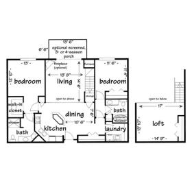 2 Bedrooms 2 Bathrooms Apartment for rent at Province Hill in Madison, WI