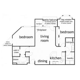 2 Bedrooms 2 Bathrooms Apartment for rent at Yorktown Estates in Madison, WI