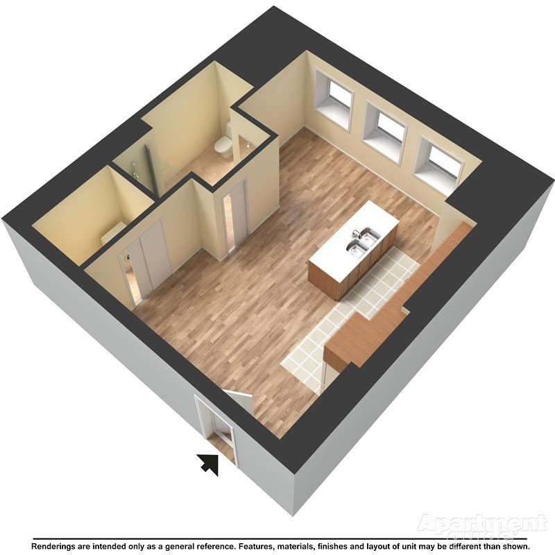 Studio 1 Bathroom Apartment for rent at Mackie Flats in Milwaukee, WI