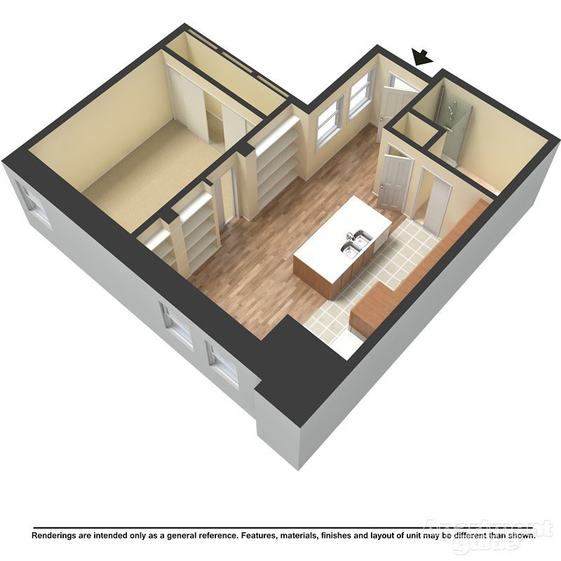 1 Bedroom 1 Bathroom Apartment for rent at Mackie Flats in Milwaukee, WI