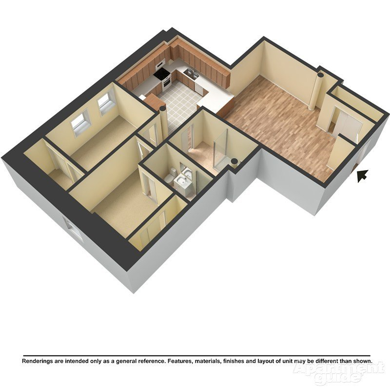 2 Bedrooms 2 Bathrooms Apartment for rent at Mackie Flats in Milwaukee, WI
