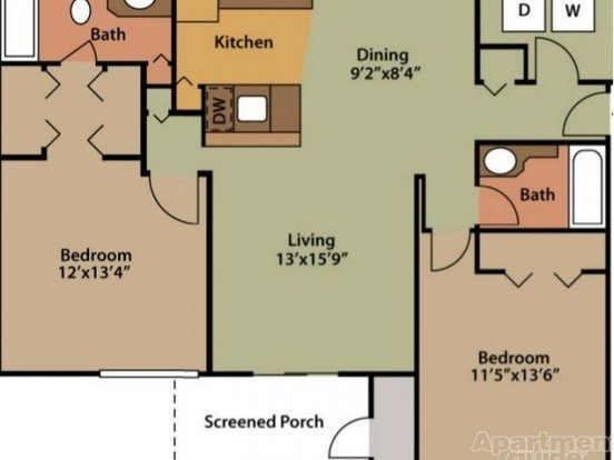 2 Bedrooms 2 Bathrooms Apartment for rent at Crest Club in Valley, AL