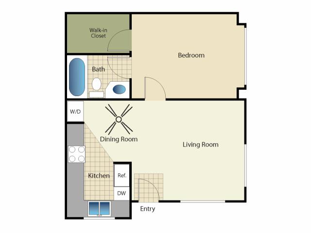 1 Bedroom 1 Bathroom Apartment for rent at Elan Playa Mar Encinitas in Encinitas, CA