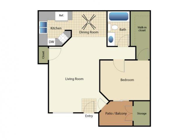1 Bedroom 1 Bathroom Apartment for rent at Elan Riverwalk in Escondido, CA