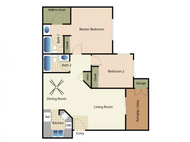 2 Bedrooms 2 Bathrooms Apartment for rent at Elan Riverwalk in Escondido, CA