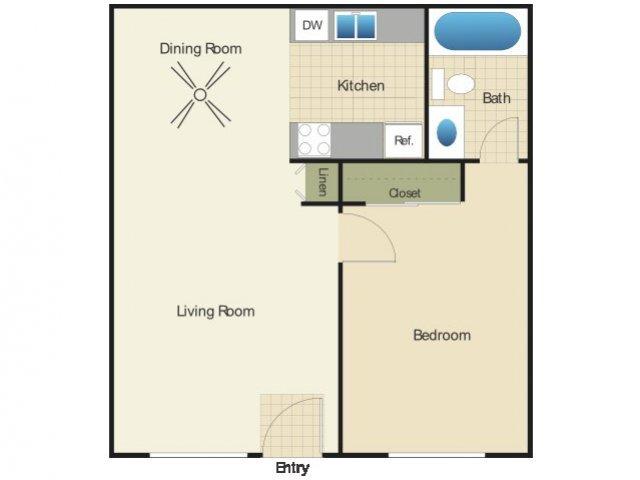 1 Bedroom 1 Bathroom Apartment for rent at Elan Summit At Alpine in Alpine, CA