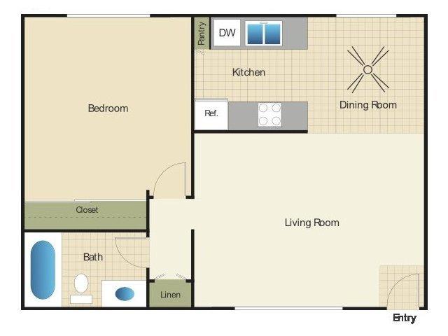 1 Bedroom 1 Bathroom Apartment for rent at Elan The Park in Ocean Beach, CA