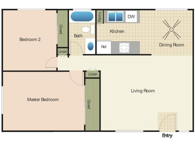 2 Bedrooms 1 Bathroom Apartment for rent at Elan The Park in Ocean Beach, CA