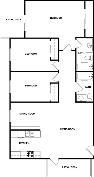 3 Bedrooms 2 Bathrooms Apartment for rent at Elan Poway Hills in Poway, CA