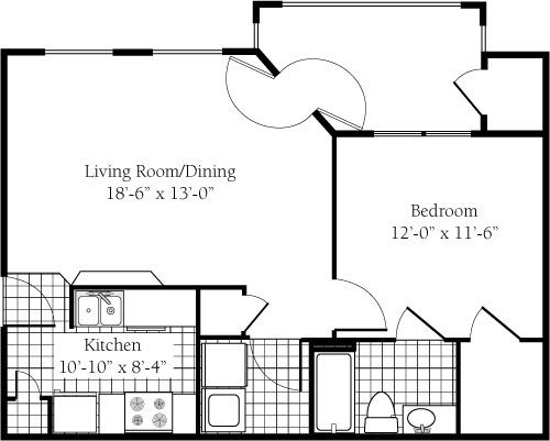 1 Bedroom 1 Bathroom Apartment for rent at Campus Edge- Raleigh in Raleigh, NC