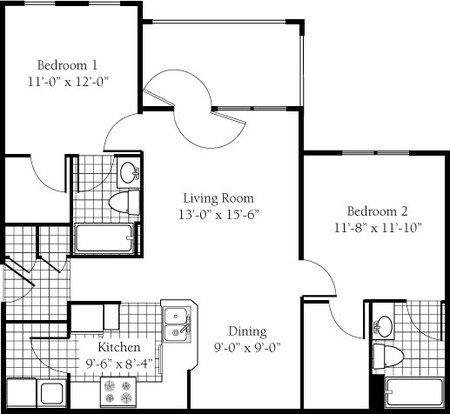 2 Bedrooms 2 Bathrooms Apartment for rent at Campus Edge- Raleigh in Raleigh, NC