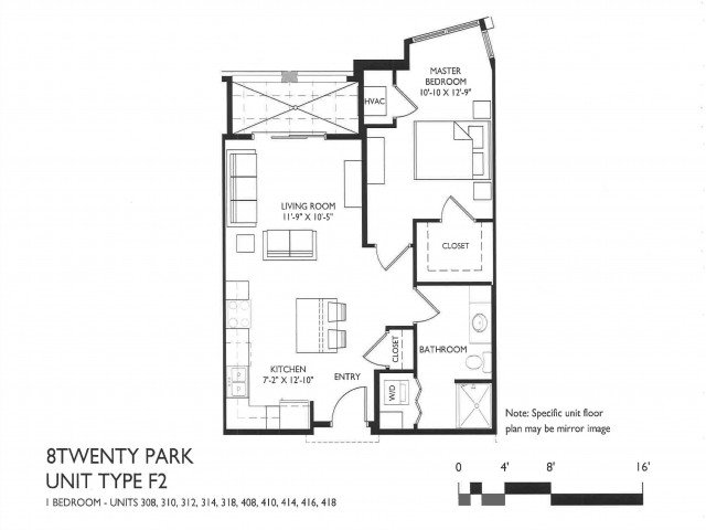 1 Bedroom 1 Bathroom Apartment for rent at 8 Twenty Park in Madison, WI