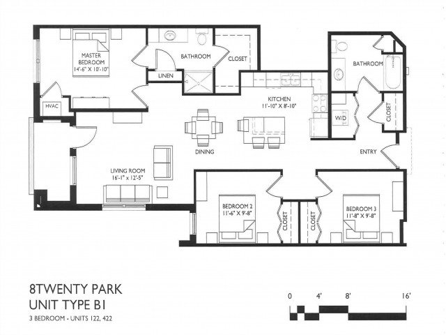 3 Bedrooms 2 Bathrooms Apartment for rent at 8 Twenty Park in Madison, WI