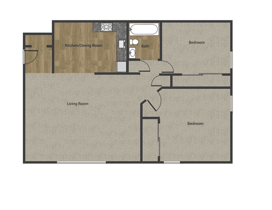 2 Bedrooms 1 Bathroom Apartment for rent at The Villages in Madison, WI