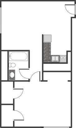 1 Bedroom 1 Bathroom Apartment for rent at Barrington Place in Louisville, KY