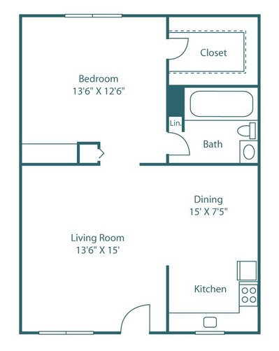 1 Bedroom 1 Bathroom Apartment for rent at The Park at Chapel Hill in Chapel Hill, NC